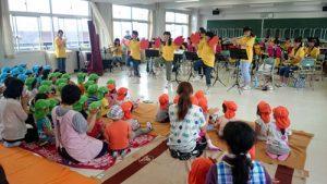地域貢献 吹奏楽団 根岸保育所の園児の皆さんとの交流会を開催