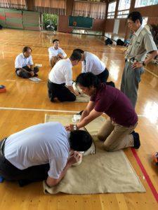 教職員対象心肺蘇生法・AED研修会開催