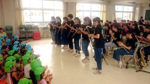 地域貢献 吹奏楽団お隣の保育所の園児と交流会を開催